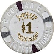 1 Dollar - Jupiters Casino (Gold Coast, Queensland) – reverse