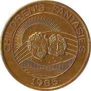 Mardi Gras Token - Krewe of Pontchartrain (Children's Fantasies; golden) – obverse