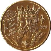 Mardi Gras Token - Rex King of Carnival (Centennial Celebration; New Orleans, Louisiana) – reverse