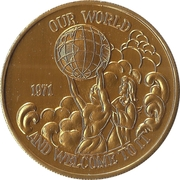 Mardi Gras Token - Juno (Our World and Welcome to It; New Orleans, Louisiana) – obverse