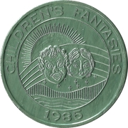 Mardi Gras Token - Krewe of Pontchartrain (Children's Fantasies; green) – obverse