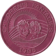 Mardi Gras Token - Krewe of Pontchartrain (Children's Fantasies; pink) – obverse