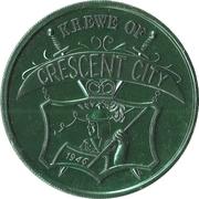 Mardi Gras Token - Krewe of Crescent City (James Gallier; green; New Orleans, Louisiana) – reverse