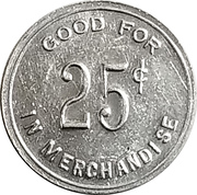 25 Cents - Domino Parlor (Hatch, New Mexico) – reverse