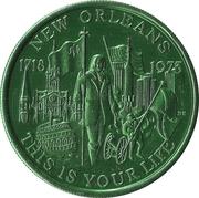 Mardi Gras Token - Krewe of Okeanos (This is Your Life; green; New Orleans, Louisiana) – obverse