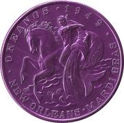Mardi Gras Token - Krewe of Okeanos (This is Your Life; purple; New Orleans, Louisiana) – reverse