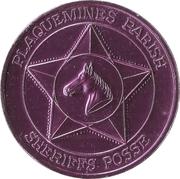 Mardi Gras Token - Sheriffs Posse (Salute to the Oil Industry; Plaquemines Parish, Louisiana) – reverse