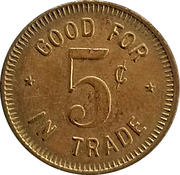 5 Cents - The House of Trader Al – reverse