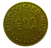 20 Euro Cent - Casino Cap d'Agde – reverse