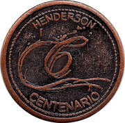 Token - Centennial of the City of Henderson – reverse