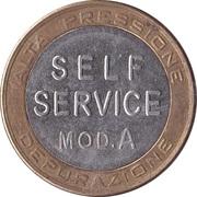 Car Wash Token - Mix Italy (Self Service mod.A) – reverse