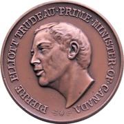 Medal - Piere Elliot Trudeau (Bronze-tone) – obverse