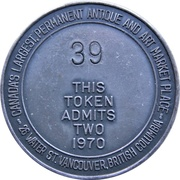 Token - Vancouver Antique Flea Market (Admit  Two) – reverse