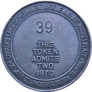 Token - Vancouver Antique Flea Market (Admit  Two) – reverse