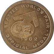 Token - Seattle World's Fair (Seattle, Washington) – reverse