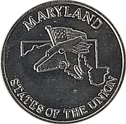 Token - Shell's States of the Union Coin Game, Version 2 (Maryland / Texas) – obverse