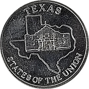 Token - Shell's States of the Union Coin Game, Version 2 (Maryland / Texas) – reverse