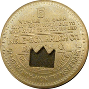 5 Cents - CoalRun Coal Company (Cunard, West Virginia) – reverse
