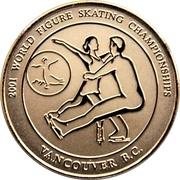 Medallion - 2001 World Figure Skating Championships (Pair) – obverse