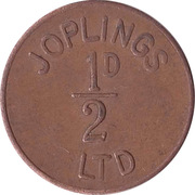 ½ Penny - Joplings Ltd. – obverse