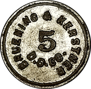 5 Cents - Bruening & Kerstner Dry Goods Co. – obverse