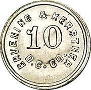 10 Cents - Bruening & Kerstner Dry Goods Co. – obverse