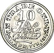 10 Cents - Bruening & Kerstner Dry Goods Co. – reverse