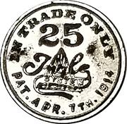 25 Cents - Bruening & Kerstner Dry Goods Co. – reverse