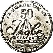 50 Cents - Bruening & Kerstner Dry Goods Co. – reverse