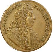 Token - Louis XIV (Chambre du trésor royal; Semperque Recentes Aerarium Regium) – obverse