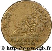 Token - Louis XIV (Chambre du trésor royal; Semperque Recentes Aerarium Regium) – reverse