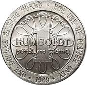 1 Dollar - Humboldt Hotel and Casino (Winnemucca, Nevada) – obverse