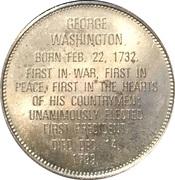 Token - Presidential Hall of Fame (George Washington) – reverse
