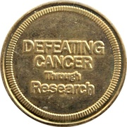 Token - The Cancer Research Society (Montreal, Quebec) – reverse