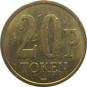 20 Pence - Cunard Line (Caronia) – reverse