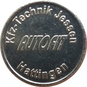 Car Wash Token - Autofit (Hattingen) – obverse