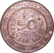 50 Centsesterces - Nutella (Assurancetourix) – reverse