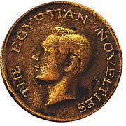 Token - George VI (Egyptian novelties - M. Habib; 15 mm) – obverse