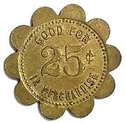 25 Cents - The Wilmot Mercantile Co. (Wilmot, South Dakota) -  reverse