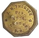 10 Cents - J. M. Thorson (Crooks, South Dakota) – obverse