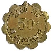 50 Cents - The Wilmot Mercantile Co. (Wilmot, South Dakota) – reverse