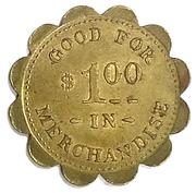 1 Dollar - The Wilmot Mercantile Co. (Wilmot, South Dakota) – reverse