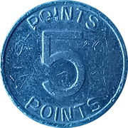 5 Points - Arcade Token – reverse