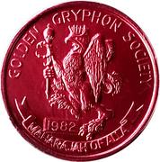 Mardi Gras Token - Alla (Maharajah of Alla Golden Gryphon Society; New Orleans, Louisiana) – obverse