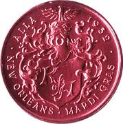 Mardi Gras Token - Alla (Maharajah of Alla Golden Gryphon Society; New Orleans, Louisiana) – reverse