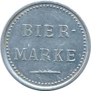 Beer Token - Bier-Marke (Tucher; Nuremberg) – reverse