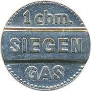 1 cbm. Gas - Siegen – obverse