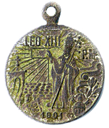 Indulgences Medal - Leo XIII – obverse