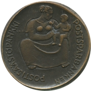 Token - 75th anniversary of the savings Bank at the post office – obverse