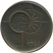 Token - 75th anniversary of the savings Bank at the post office – reverse